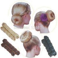 2Pcs/set(1 large 1 small) New Arrival (3 Colors) Hot Buns Hair Elegant Magic Style Bun Maker Hair Styling Tools