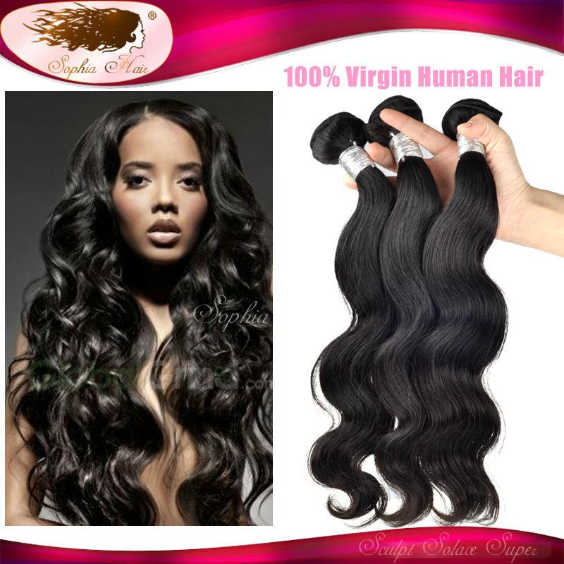6A Unprocessed Peruvian Virgin Hair Body Wave Peruvian Hair Extensions Cheveux Color 1B Remy Human Hair Weave Mega Hair 3pcs/lot(China (Mainland))