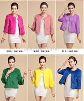 2014 Autumn Spring Short Female Faux Fur Coat 8Colors For choice three quarter sleeve women faux fur coat