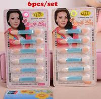 6 PCS Eye Shadow Makeup Brushes Brush Eyeshadow Sponge Brushes Beauty makeup tools Dual Brush head With Retail Box Free Shipping