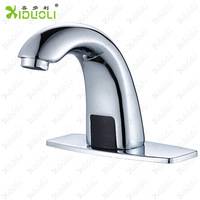Xiduoli Brand Contemporary Deck Mounted Hands Free Brass Bathroom Sink Faucet Vanity Tap Mixer Top Quality Automatic Faucet