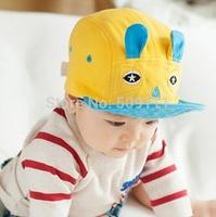 Little boys girls flanging baseball cap Autumn Children Cotton Hats Kids Rabbit Ears Design Hats Hip-hop Caps 1pc H551