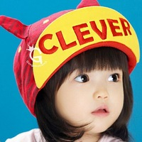 Little boys girls flanging baseball cap Kids new fashion cotton hat  Child zebra style cap clever baby hat 1pc H550