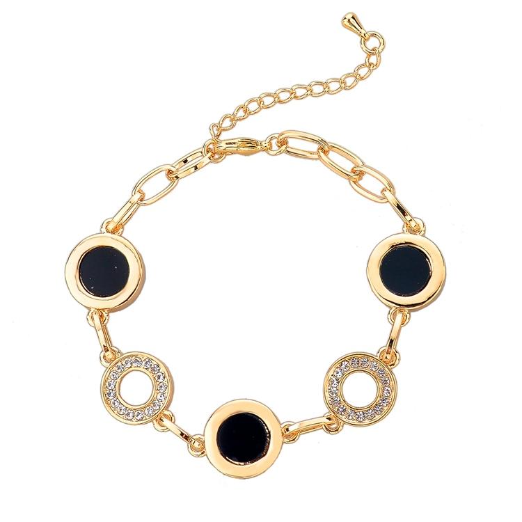 2014 Fashion Famous Brand Top Quality Bracelets Bangles Gold Chain Bracelet Elegant Women's Bracelets Trendy Jewelry SBR140293(China (Mainland))