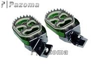 PAZOMA Billet Race CNC ALUMINUM Foot Pegs Footrests For kawasaki klx150 2009-2012 GREEN