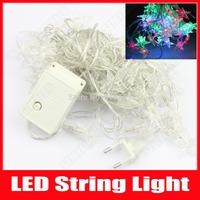 Christmas Lights Star Style LED String Lights 8m 52 LED Home Party Wedding Decoration Lamps Fairy Lights AC 110V 220V RGB White