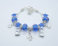 wholesale 925 Sterling Silver jewelry charms bracelet silver bracelet.clear crystal beads bracelet  PH11-35