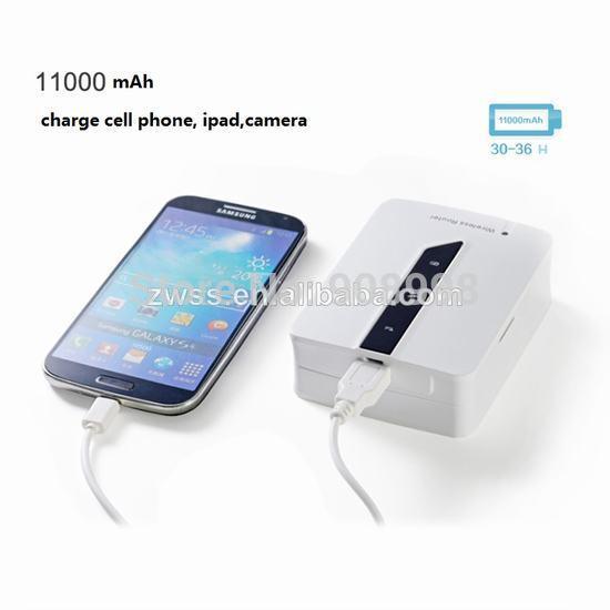 shiping free! 3G HSDPA /EDGE 150M Router With SIM card slot 11000mAh power bank 2pcs(China (Mainland))