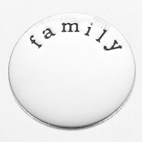 "2014 22mm Newest Floating Charm ""family""stamped window plate fit 30mm living locket Faith Letter For Glass Locket"
