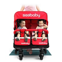 Baby Double Stroller Twins Turismo Swivel Double Jogger shockproof Stroller  Infant Stroller