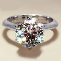 1 karat Platinum Plating CZ wedding rings six claw crown best friends ring Size 4 5 6 7 8 9 fashion jewelry semi joias