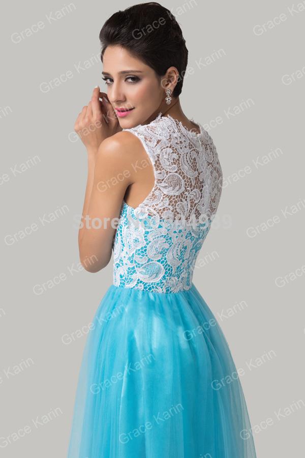 Deep sky blue dress images