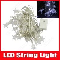 LED Star String Lights Christmas Lights 5m 50 LED AC 110V 220V Cool White RGB Home Party Wedding Decoration Lamps Free Shipping