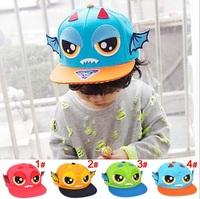 Kids Baseball Hats Boys Girls cotton Bat Wizard Flat -brimmed Hats Hip-hop Caps Children Accessories 1pc H555