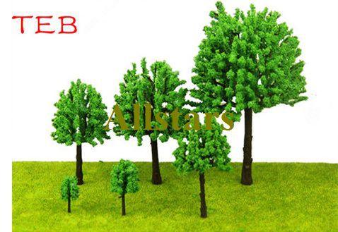 Free shipping brand new TEB series 20pcs Scale Train Layout Set Model tree 9cm buliding model tree J-0123(China (Mainland))