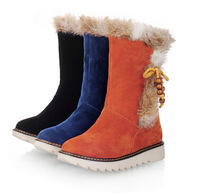 women snow boots new fashion winter warm shoes Mid-Calf boots  winter boots for lady