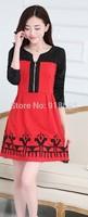 New 2014 Autumn Women's Dresses Elegant Women's Fashion Sweet Dress Free Shipping Promotion