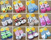 6 pairs/lot Baby Anti-slip Walking Socks baby sock Indoor shoes infant sock Newborn children sock free shipping