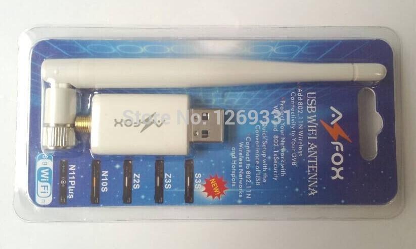 USB wifi wireless antenna AZFOX USB WIFI for Openbox X3 X5 azfox z3s z2s n10s n11 Skybox F3 F4 F5 M3 free shipping(China (Mainland))