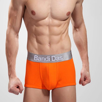Boxers Men's Bandi Das Brand Underwear Cotton U convex Design Breathable Orange BD011-O-M