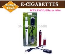 eGo E-Cigarettes EVOD Blister Kits EVOD MT3 Atomizer EVOD Battery 650mah 900mah 1100mah for E Cigarette Cig Various Colors