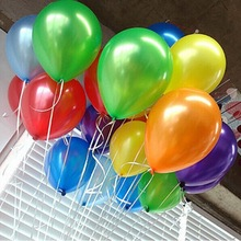 HOT SALE Free100pcs/lot 10inch 1.2g/pcs Latex Helium Thickening Pearl Wedding Party Birthday Balloon Multicolor or single colors(China (Mainland))