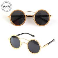Prince personalized round mirror reflective sun glasses Retro sunglasses influx for men and women