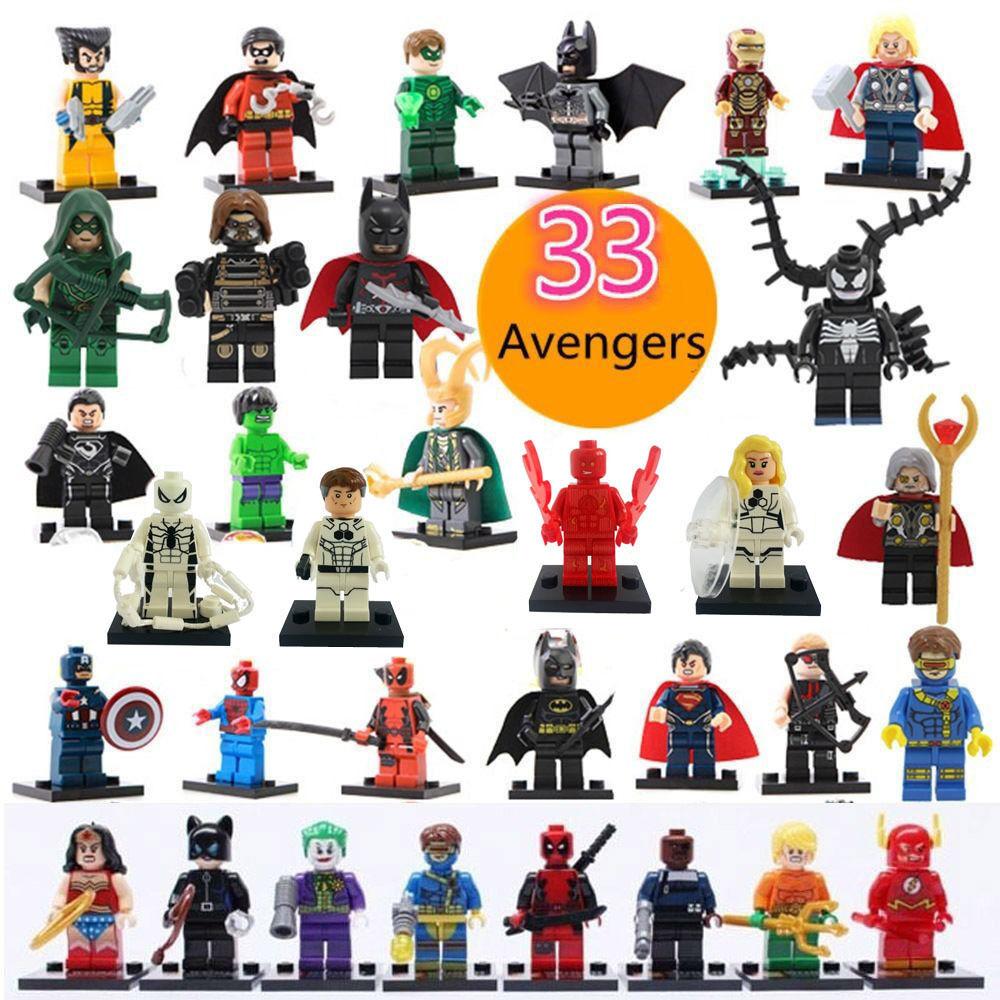 33 pcs/Lot Super Heroes action toys figures Building Blocks Sets Minifigures Bricks Classic Toys Action & Fashion Figures IQ(China (Mainland))