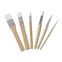 6 pieces Solid birch children painting brush