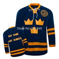 Team SWEDEN Ice Blank Hockey Jerseys Custom Any Name Any Number