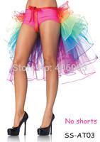 free shipping adult sexy tutu skirts girls colorful clubwear bustle party dance rainbow  carnival tutu skirt