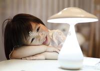 Mushroom Air Purifier Lamp USB Rechargeable Touch Sensor LED Night Light Desk Lamp Free Shipping