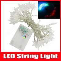 Christmas Lights Star Style 5m 50 LED Battery Operated LED String Lights Home Wedding Party Decoration Lamps Fairy Lights