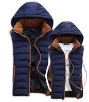 new winter jacket men Warm Man's outdoors down jacket Fashion Waistcoat , 2014 men vest slim casual winter coat free shipping
