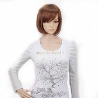 New 2014 Bobo wig dance party wig model wig fashion Heat Resistant Synthetic Fiber Short Blonde Bobo Wigs for Women