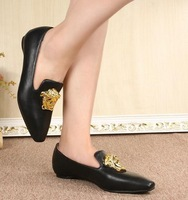 Top quality Ladies Latest Fashion Women Flat Leather Shoes