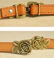 Free shipping belt Women's Flower Belts Candy Rose Belt Fashionc PU leather belt