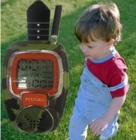 Free talker Radio Walkie Talkie Two-Way Watch for Outdoor Sport Hiking Radio Walkie Talkie for Children, 2pcs/lot Free Shipping