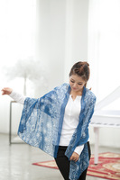6 styles SC180223 160*70cm  Lady fashion blue and white proceline print pashmina style chiffon scarf