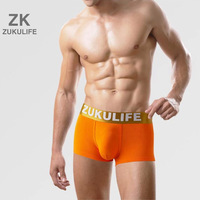 ZK Brand Men's Boxer Underwear Modal Orange Z9008-O-L  MORE PLUS SIZE 2XL,3XL,4XL,5XL