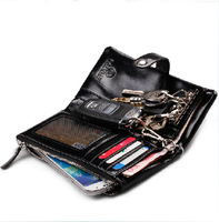 EMS free shipping new 2014 genuine leather wallets for men solid hasp organizer wallets for card key phone bag famous brand