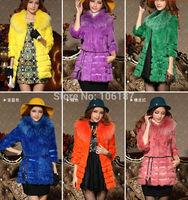 Women faux fur coats long sleeve with fur collars 10colors 2015 winter new fashion Faux Fur Coat for women  jackets outerwear