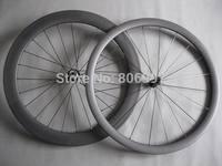 23mm width 700c carbon bike wheelset tubular /(38+60)mm ultralight carbon road bicycle wheels(include skewers and brake pads)