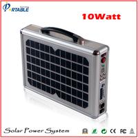 Portable free energy solar power generator mni home use power With radio led light