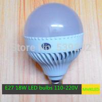 New High Power E27 18W LED Bubble Ball Bulb light 5730 SMD Led Lamp  AC110V-240V Epistar 5730 SMD Light Led Spot  Free Shipping