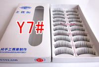 New Arrival Y7# Pure Handmade natural false eye lashes beauty tool 10set/lot