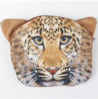 new Arrival 18cm 3D vivid animal messenger bag for women  Tiger coin purse coin bag coin wallet 5pieces/lot free shipping