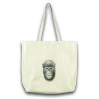 2014 designer brand brief sketch gorilla beige women genuine leather handbags fashion shoulder bags female bolsas free shipping