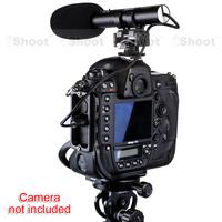 iShoot Pro DC/DV Stereo Microphone MIC case for Canon Digital Camera EOS 5D Mark II III 7D 6D 70D 60D 700D 650D 600D 100D EOS-M