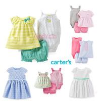2014 New Arrivals Carters Original Baby Girls 2-Piece Dress & Cardigan Set, Baby Girls Set,Freeshipping